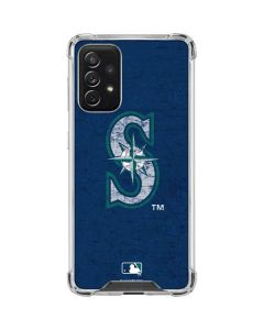 Seattle Mariners - Solid Distressed Galaxy A72 5G Clear Case