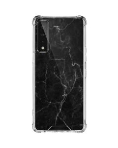 Black Marble LG Stylo 7 5G Clear Case