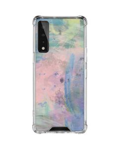 Rose Quartz & Serenity Abstract LG Stylo 7 5G Clear Case