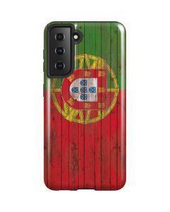 Portuguese Flag Dark Wood Galaxy S21 5G Case