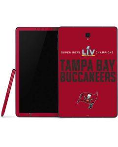 Super Bowl LV Champions Tampa Bay Buccaneers Samsung Galaxy Tab Skin