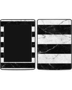 Black and White Striped Marble Amazon Kindle Skin