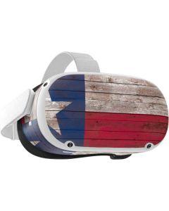 Texas Flag Dark Wood Oculus Quest 2 Skin