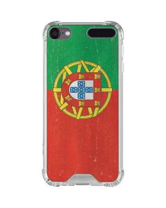 Portugal Flag Distressed iPod Touch (5th-6th-7th Gen) Clear Case
