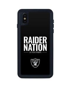 Las Vegas Raiders Team Motto iPhone XS Max Waterproof Case