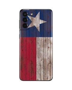 Texas Flag Dark Wood Galaxy S21 Plus 5G Skin