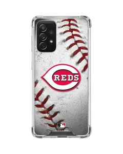 Cincinnati Reds Game Ball Galaxy A72 5G Clear Case