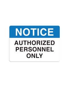 "Authorized Personnel Only 7"" x 10"" Wall Graphic"