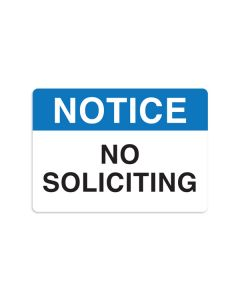 "No Soliciting 7"" x 10"" Wall Graphic"