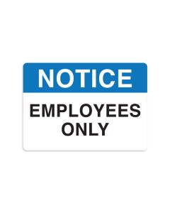 "Employees Only 7"" x 10"" Wall Graphic"
