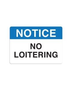 "No Loitering 7"" x 10"" Wall Graphic"