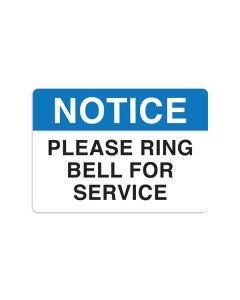 "Please Ring Bell For Service 7"" x 10"" Wall Graphic"