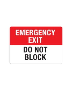 "Do Not Block 7"" x 10"" Wall Graphic"