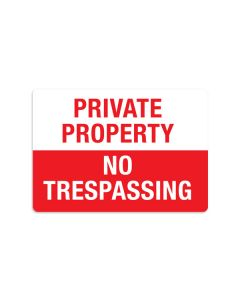 "No Trespassing 7"" x 10"" Wall Graphic"