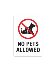 "No Pets Allowed 7"" x 10"" Wall Graphic"