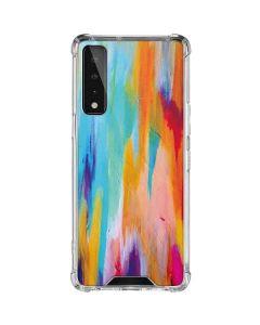 Multicolor Brush Stroke LG Stylo 7 5G Clear Case