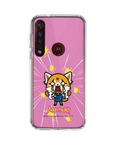 Aggretsuko Breaking Point Moto G8 Plus Clear Case