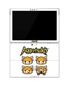 Aggretsuko Expressions Surface Pro 7 Skin