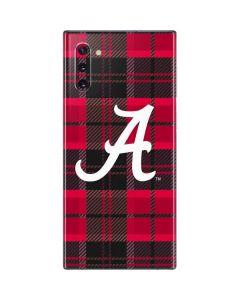 Alabama Plaid Galaxy Note 10 Skin
