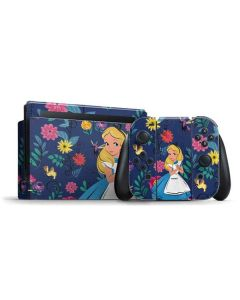 Alice in Wonderland Floral Print Nintendo Switch Bundle Skin