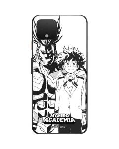 All Might and Deku Black And White Google Pixel 4 Skin