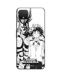 All Might and Deku Black And White Google Pixel 4 XL Skin
