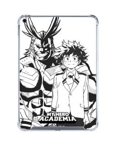 All Might and Deku Black And White iPad 10.2in (2019-20) Clear Case