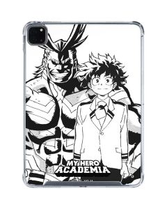All Might and Deku Black And White iPad Pro 11in (2020) Clear Case