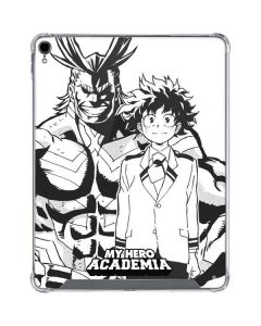 All Might and Deku Black And White iPad Pro 12.9in (2018-19) Clear Case