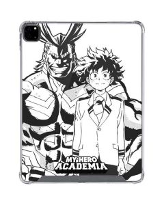 All Might and Deku Black And White iPad Pro 12.9in (2020) Clear Case