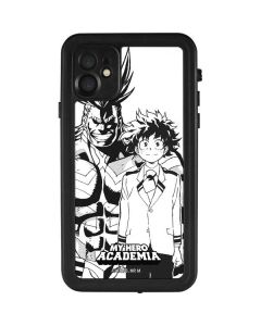 All Might and Deku Black And White iPhone 11 Waterproof Case