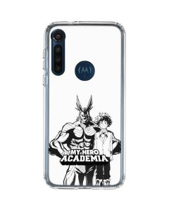 All Might and Deku Black And White Moto G8 Power Clear Case