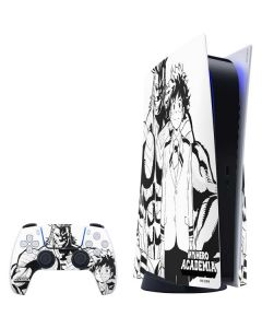 All Might and Deku Black And White PS5 Bundle Skin