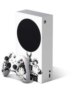 All Might and Deku Black And White Xbox Series S Bundle Skin