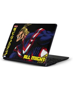 All Might Ready for Battle Samsung Chromebook Skin