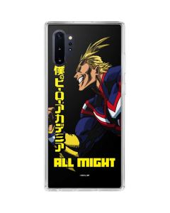 All Might Ready for Battle Galaxy Note 10 Plus Clear Case