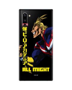 All Might Ready for Battle Galaxy Note 10 Skin