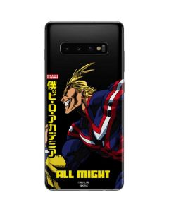 All Might Ready for Battle Galaxy S10 Plus Skin