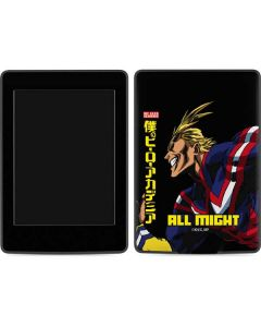 All Might Ready for Battle Amazon Kindle Skin