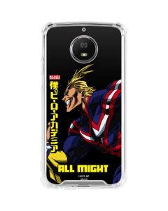 All Might Ready for Battle Moto G5S Plus Clear Case