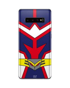 All Might Suit Galaxy S10 Plus Skin