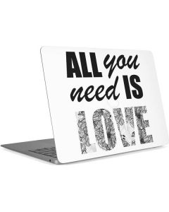 All You Need Is Love BW Apple MacBook Air Skin