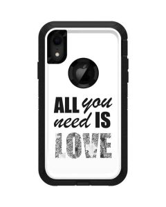 All You Need Is Love BW Otterbox Defender iPhone Skin