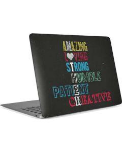 Amazing Loving Strong Apple MacBook Air Skin