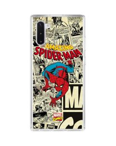 Amazing Spider-Man Comic Galaxy Note 10 Clear Case
