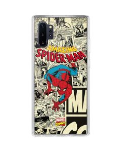 Amazing Spider-Man Comic Galaxy Note 10 Plus Clear Case