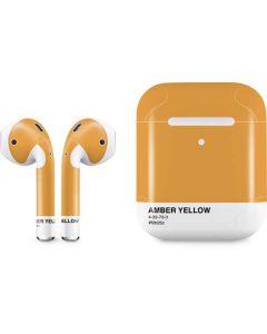 Amber Yellow Apple AirPods 2 Skin