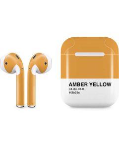 Amber Yellow Apple AirPods Skin