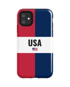 American Flag Color Block iPhone 11 Impact Case