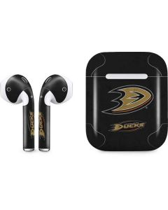 Anaheim Ducks Distressed Apple AirPods Skin